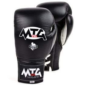 MTG Pro Competition Lace-up Boxing Gloves Black