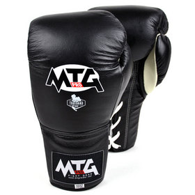 MTG Pro Lace-up Boxing Gloves Black