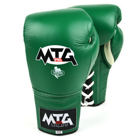 MTG Pro Lace-up Boxing Gloves Green