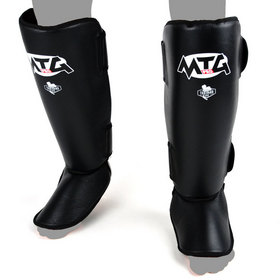 MTG Pro Leather Shin Pads Black