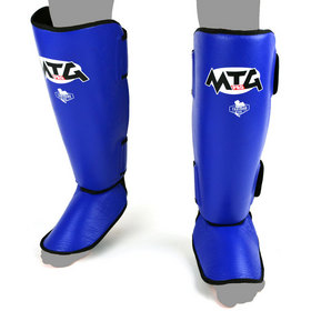 MTG Pro Leather Shin Pads Blue