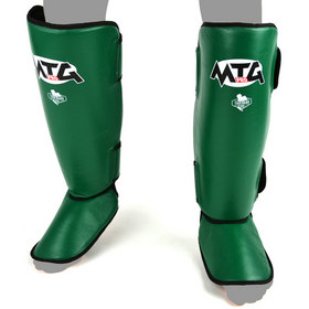 MTG Pro Leather Shin Pads Green