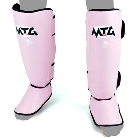 MTG Pro Leather Shin Pads Pink