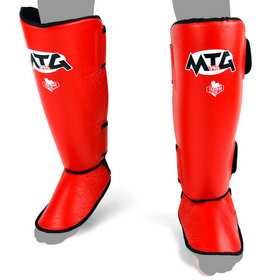 MTG Pro Leather Shin Pads Red