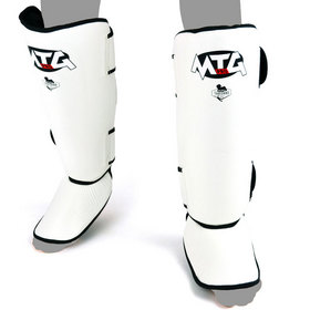 MTG Pro Leather Shin Pads White