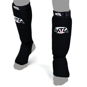 MTG Pro Elasticated Shin Pads Black