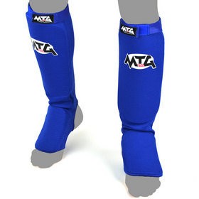 MTG Pro Elasticated Shin Pads Blue
