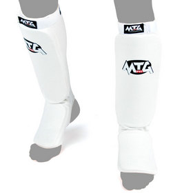 MTG Pro Elasticated Shin Pads White