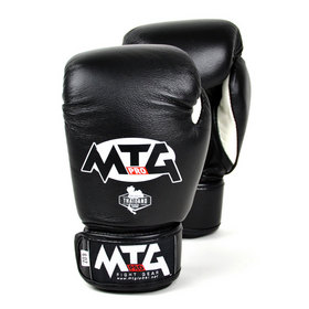 MTG Kids Leather Velcro Boxing Gloves Black