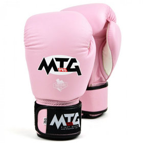 MTG Pro Pink Velcro Boxing Gloves