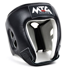 MTG Pro Open Face Headguard Black