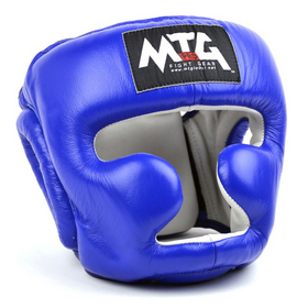MTG Pro Full Face Head Guard Blue