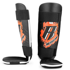 Revgear Youth Shin Pads / Black Orange
