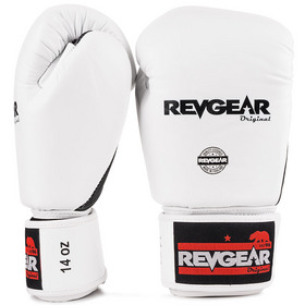 Revgear Original Thai Velcro Boxing Gloves Black & White