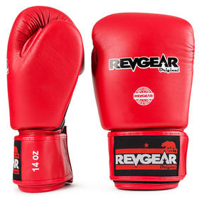 Revgear Original Thai Velcro Boxing Gloves Black & Red