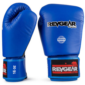 Revgear Original Thai Velcro Boxing Gloves Black & Blue
