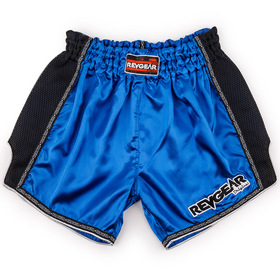 Revgear Satin Muay Thai Shorts Blue