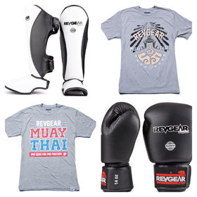 REVGEAR Gloves & Shins Package *FREE T-SHIRT*
