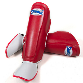 Sandee Kids Synthetic Leather Boot Shinguard Red & White