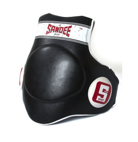 Sandee Sport Synthetic Leather Full Body Pad Black & White