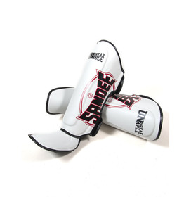Sandee Cool-Tec White, Black & Red Synthetic Leather Boot Shinguards