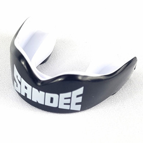 Sandee Adult Mouthguard Black/White