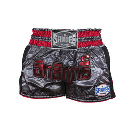Sandee Supernatural Power Muay Thai Shorts Black/Carbon/Red