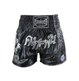 Sandee Unbreakable Muay Thai Shorts Black/Silver