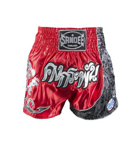 Sandee Unbreakable Muay Thai Shorts Red/Black/White