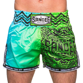 Sandee Warrior Muay Thai Shorts Green & Blue