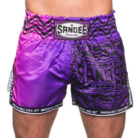 Sandee Warrior Muay Thai Shorts Purple & Pink