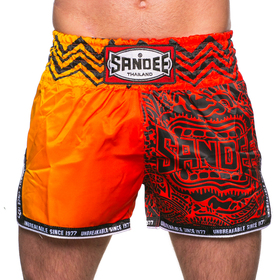 Sandee Warrior Muay Thai Shorts Red & Orange