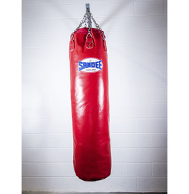 Sandee Full Leather Punch Bag Red