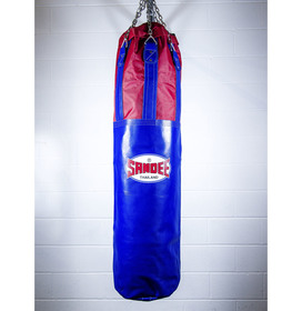 Sandee Half Leather Punch Bag Blue & Red