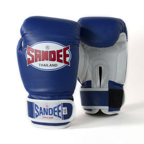 Sandee Kids Velcro Synthetic Boxing Gloves Blue & White