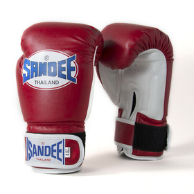 Sandee Kids Velcro Synthetic Boxing Gloves Red & White