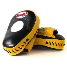 Sandee Curved Focus Mitts Black & Yellow