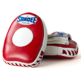 Sandee Mini Curved Focus Mitts Red