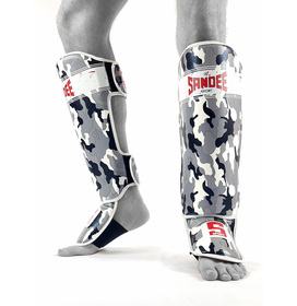 Sandee Sport Camo Grey & White Synthetic Leather Boot Shinpads