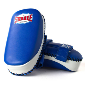 Sandee Curved Thai Kick Pads Blue & White