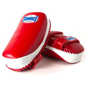 Sandee Curved Thai Kick Pads Red & White