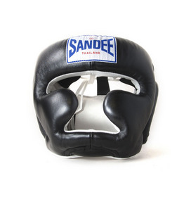 Sandee Closed Face Head Guard Black & White