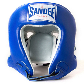 Sandee Open Face Head Guard Blue