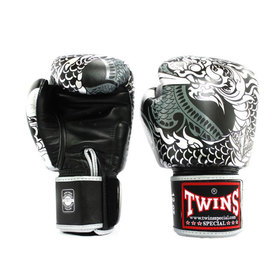 Twins Black-Silver Nagas Boxing Gloves