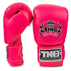 Top King Double Lock Air Boxing Gloves Pink