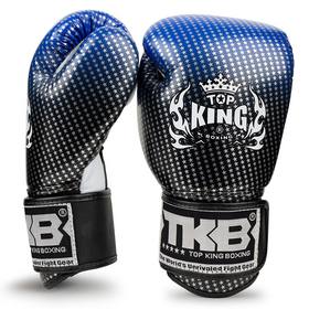 Top King Kids Boxing Gloves / Super Star / Blue Black