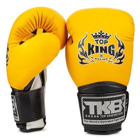 Top King Super Air Velcro Boxing Gloves Yellow
