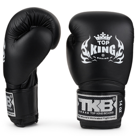 Top King Super Air Velcro Boxing Gloves Black