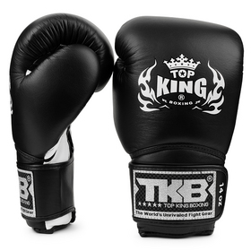 Top King Super Air Velcro Boxing Gloves Black & White