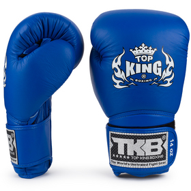Top King Super Air Blue Velcro Boxing Gloves